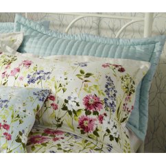 Meadow seafoam quilted pillowsham