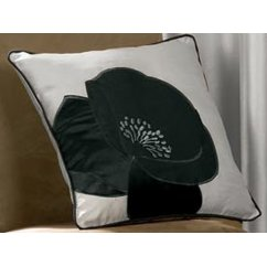 Daniella black floral cushion cover 43cm