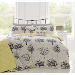 Rothay woodland theme cotton reverse duvet set