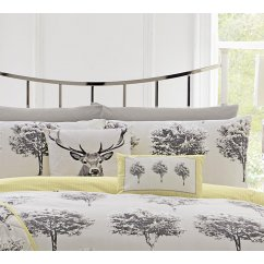 Rothay stag print 43cm cushion cover grey