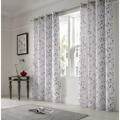 Berry red readymade eyelet curtains