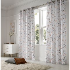 Berry orange readymade eyelet curtains