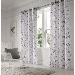 Berry purple readymade eyelet curtains