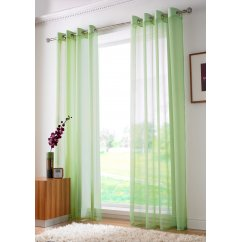 Plain ringtop readymade voile panel - lime