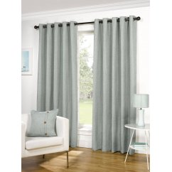 Lexington duckegg basketweave readymade eyelet curtains