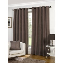 Lexington mink basketweave readymade eyelet curtains