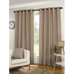 Lexington natural basketweave readymade eyelet curtains