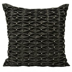 monte carlo black frilled cushion cover 50cm