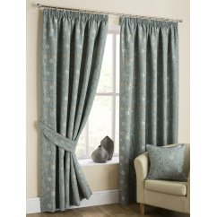 Isla duckegg pencilpleat readymade curtains