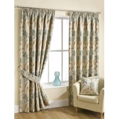 Lily duckegg pencil pleat readymade curtains