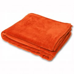Colorado faux fur throw,burnt orange, 140x180cm