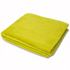Colorado faux fur throw,lime, 140x180cm