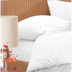 Brushed cotton 4 piece flannelette sheet set, white
