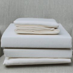 100% pure brushed cotton flannelette flat sheet cream (170gsm)