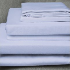 100% pure brushed cotton flannelette flat sheet white (170gsm)