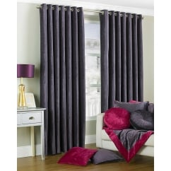 Wellesley plum chenille eyelet curtains