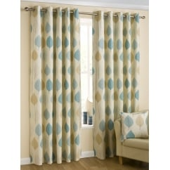 Modern Leaf duckegg eyelets readymade curtains