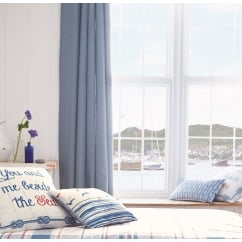 Rathmore blue eyelet thermal curtains
