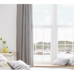 Rathmore silver eyelet thermal curtains