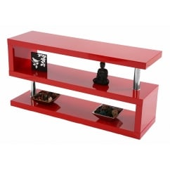 Miami red gloss tv stand