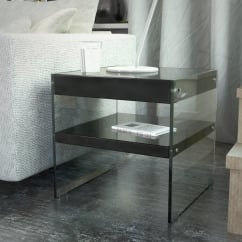 waverley black gloss side table