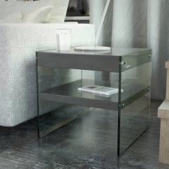 waverley grey gloss side table