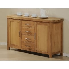 zeus solid oak sideboard