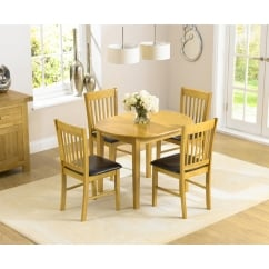 Alaska oak extending dining set