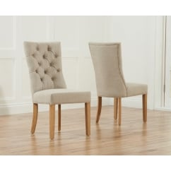 Albury beige fabric dining chair (pair)