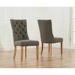 Albury grey fabric dining chair (pair)