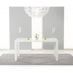 ava white 160cm gloss dining table