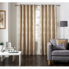Diego natural leaf eyelet curtains