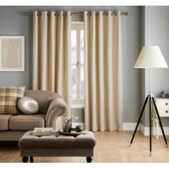Ennerdale cream geometric eyelet readymade curtains