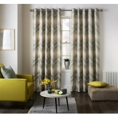 Mexico grey wave pattern readymade eyelet curtains