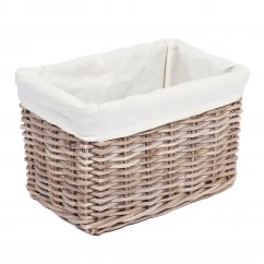 Rectangular kooboo grey wicker basket 38x25x25cm