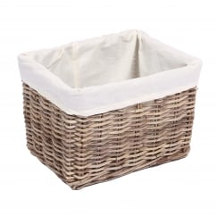 Rectangular kooboo grey wicker basket 34x25x25cm