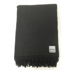 pure wool charcoal throw