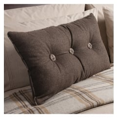 Button mocha accessory oblong cushion