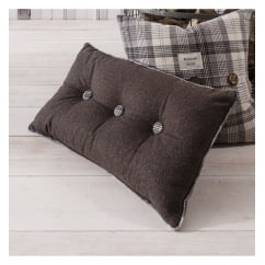 Button grey accessory oblong cushion