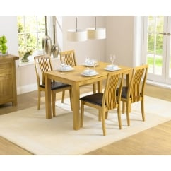 Charlotte solid hardwood dining set