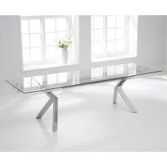 Palazzo 200cm glass extending dining table