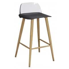 Chelsea black bar stool (pair)