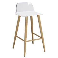 Chelsea white bar stool (pair)
