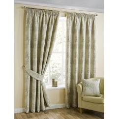 Arden natural pencil readymade curtains