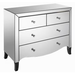 Valentina 2+2 mirror chest drawers