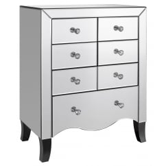 Valentina 7 draw mirror chest drawers