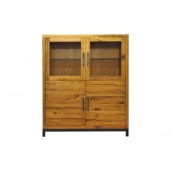Urbane industrial oak highboard with led lights
