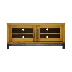 Urbane industrial oak standard tv unit
