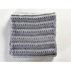 Cashmere grey wave effect woven throw, 138 x 256cm