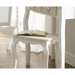 Juliette white painted dressing stool